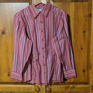 Tommy Hilfiger Button Down Plaid Shirt Size 18